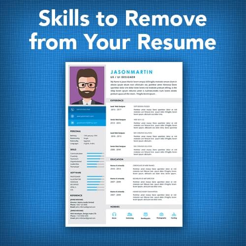 Skills Remove Resume