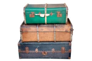 valentines day box suitcase vintage