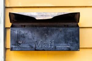 valentines day box vintage mailbox