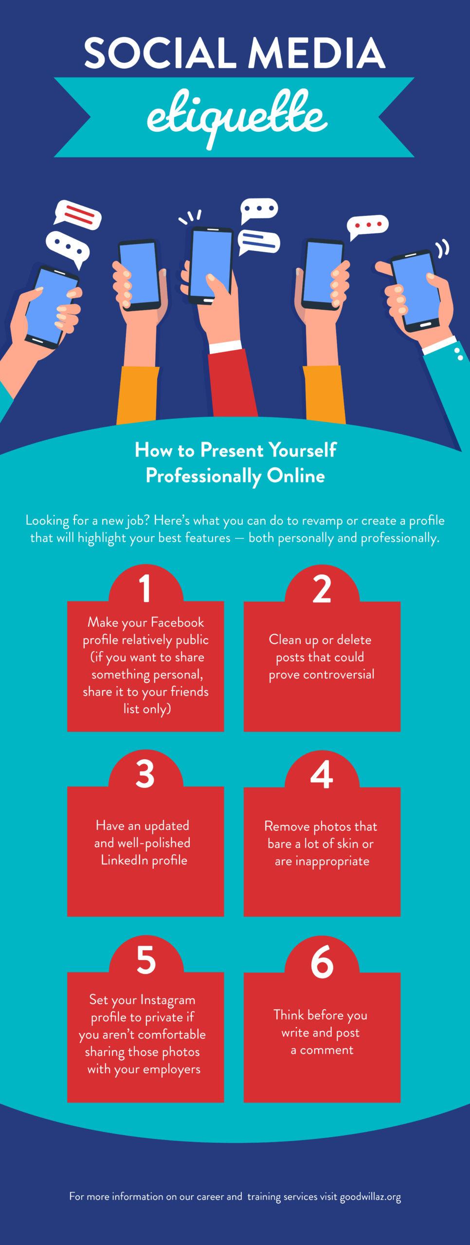social media etiquette | Goodwill AZ